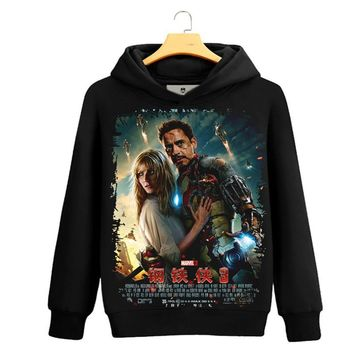 Iron Man Captain America 3D Print Hoodie Avenger Hero Iron Man Sweatshirts pullover Marvel's Animation Cool Cosplay Hoodies