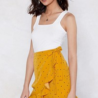 Dot Me At the Bar Ruffle Skirt