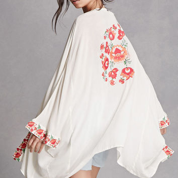 Z and L Europe Floral Kimono