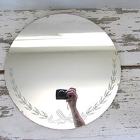 round antique wall mirror / small mirror