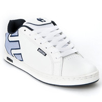 Etnies Fader White & Blue Skate Shoe at Zumiez : PDP