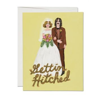 RED CAP CARDS GETTIN HITCHED CARD