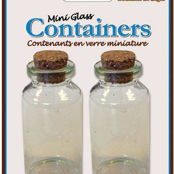 mini glass containers with cork lid - 0.84 oz.