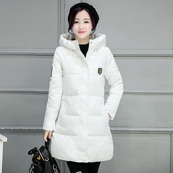 Winter Warm Parka Coat Fur Down Jackets Cotton Female Clothing