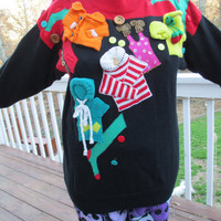 Tacky Christmas Sweater, Tacky Sweater, Ugly Sweater, unique Sweater, Knit Sweater