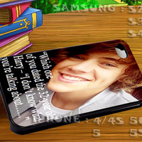One Direction Quotes Harry Styles For iphone 4 iphone 5 samsung galaxy s4 / s3 / s2 Case Or Cover Phone.