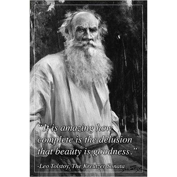 LEO TOLSTOY distinguished russian author INSPIRATIONAL quote poster 24X36
