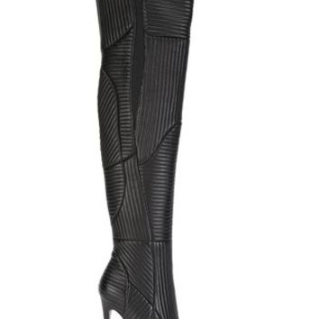 Gianni Renzi Ribbed Thigh High Boots - Biondini Paris - Farfetch.com