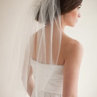 Wedding Veil, Bridal Veil, Ivory Wedding Veil, Elbow Length Veil, Tulle Veil- Hannah  MADE TO ORDER