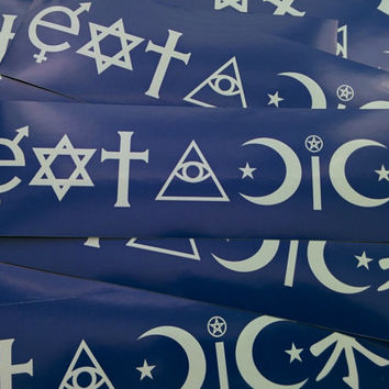 Eat A Dick - Atheist Coexist parody Removable Bumper Sticker Satire