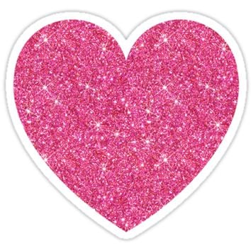 Pink glitter heart - PRINTED IMAGE by Mhea