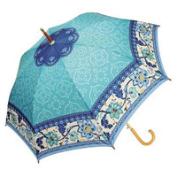 Blue/Green Tapestry Cane Umbrella