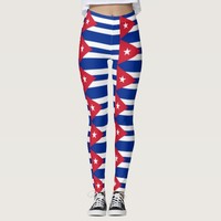 Leggings with flag of Cuba