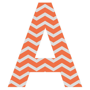 Orange Zest Chevron Patterned Letter Wall Decal