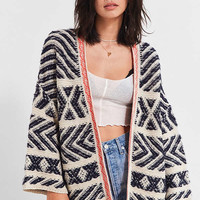 UO Festival Contrast Trim Cardigan | Urban Outfitters