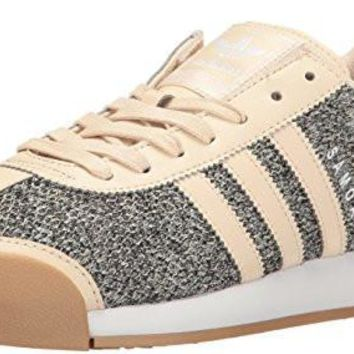 adidas Originals Women's Samoa w Tex Fashion Sneaker, Linen Khaki Linen Gum, 9.5 M US