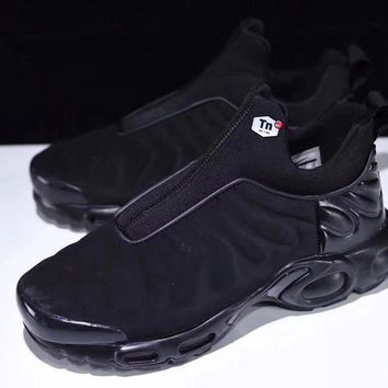 "Nike Air Max Plus Slip SP TN Retro Running Shoes ""ALL Black"""