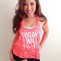 oGorgeous Gym Boutique - Today I will Kill It Tank