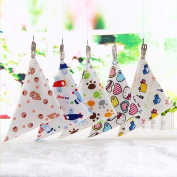 1pc Baby Bibs Infant Cotton Cute Cartoon Animal Zebra Newborn Soft Waterproof Feeding Triangle Scarf Towel Toddler Burp Clothes