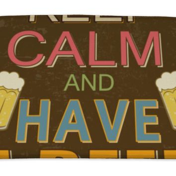 Bath Mat, Keep Calm And Have A Beer Poster