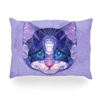 "Ancello ""Cute Kitten"" Purple Cat Oblong Pillow"