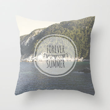Forever Summer Throw Pillow by Farsidian