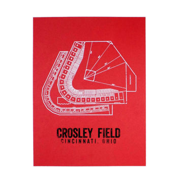 Crosley Field Seating Chart Print