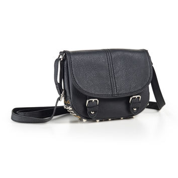 Aeropostale Womens Studded Crossbody Bag