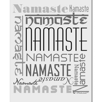"Namaste Rectangle Aluminum 8 x 12"" Sign"