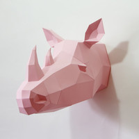"Trophy Rhino PRE CUT ""The Big Five"" DIY 1"