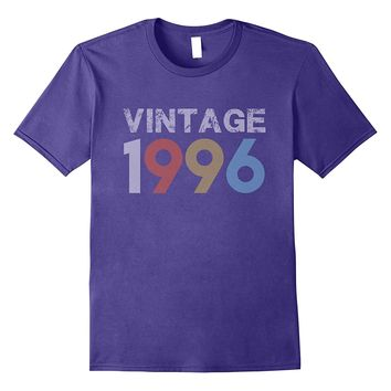 Vintage 1996 21st Birthday Gift For 21 Year Old T-Shirt