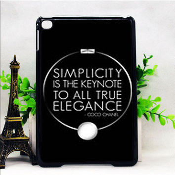 COCO CHANEL QUOTE 4 IPAD MINI 1 | 2 | 4 CASES