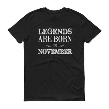 Men's Legends are born in November Birthday tshirt