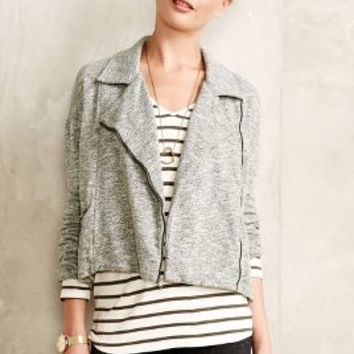 Marled Moto Jacket by Cloth & Stone Moss