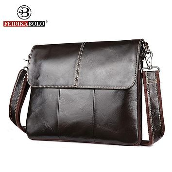 Men Messenger Bags Genuine Leather Bag Men Shoulder Bags Male Satchels Vintage Cross body Bag for Men Handbag
