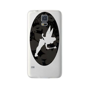 Tinkerbell Fabric Phone Sticker - Fairy iPhone 6 Plus decor - Galaxy s5 Black Decal -  2 iPhone 5 Pixie Stickers