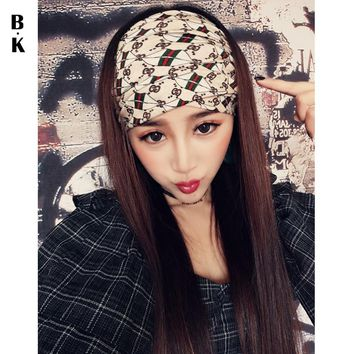 2018 Brand Headbands for Women Summer Head Band Wide Chiffon Headwear Hairbands Cross Turban Sexy Bandana Female Yoga Headwrap