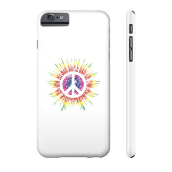 Tie Dye Peace Sign Phone Case