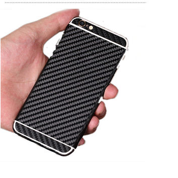 3D Carbon Fiber Full Body Back Film Sticker Case Cover Wrap Skin For Apple iPhone 5 6 6 plus
