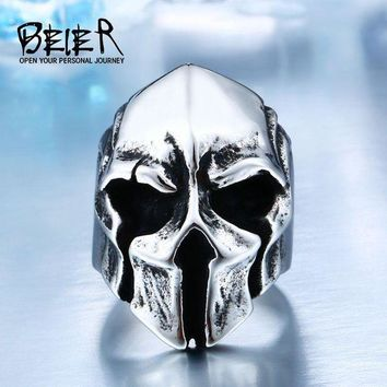 ac PEAPO2Q New Store Dropshipping Big Biker Skull Ring For Man Stainless Steel Unique Punk Men Cool Vintage Jewelry free shipping BR8-414