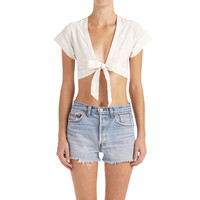 Lula Tie-Front Top - Ivory