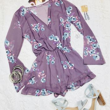 Frilly Florals Romper