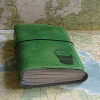 bucket list journal with maps as a travel journal by BlueToad