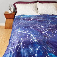 Cosmic Starry Slumber Duvet Cover in Full, Queen by ModCloth