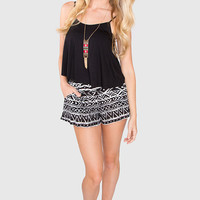 Ellie Aztec Shorts - Black