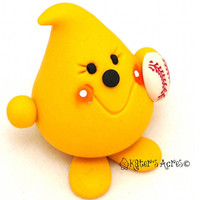 BASEBALL PARKER - Sports Series - Polymer Clay Character Figurine or Ornament