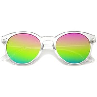 Festival P3 Round Mirrored Flat Lens Sunglasses A404