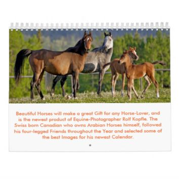 Beautiful Horses by Rolf Kopfle Calendar