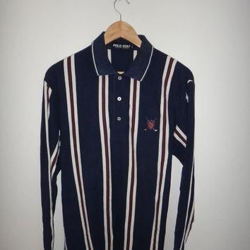 New Year Sale Vintage Polo Golf Sport Ralph Lauren Pony Shirt Striped