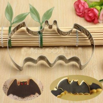 DCCKIX3 Halloween Fondant Cake Cookies Biscuit Cutter Mold Big Bat Batman Vampire Mould = 1928038724